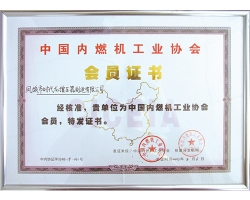 Member Unit of China Internal Combustion Engine Industry Association in 2013